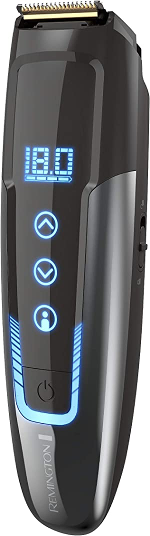 Remington, MB4700 Smart Beard Trimmer with Memory Settings and Digital Touch Screen Rechargeable for Cordless Use, Black, 1 Count