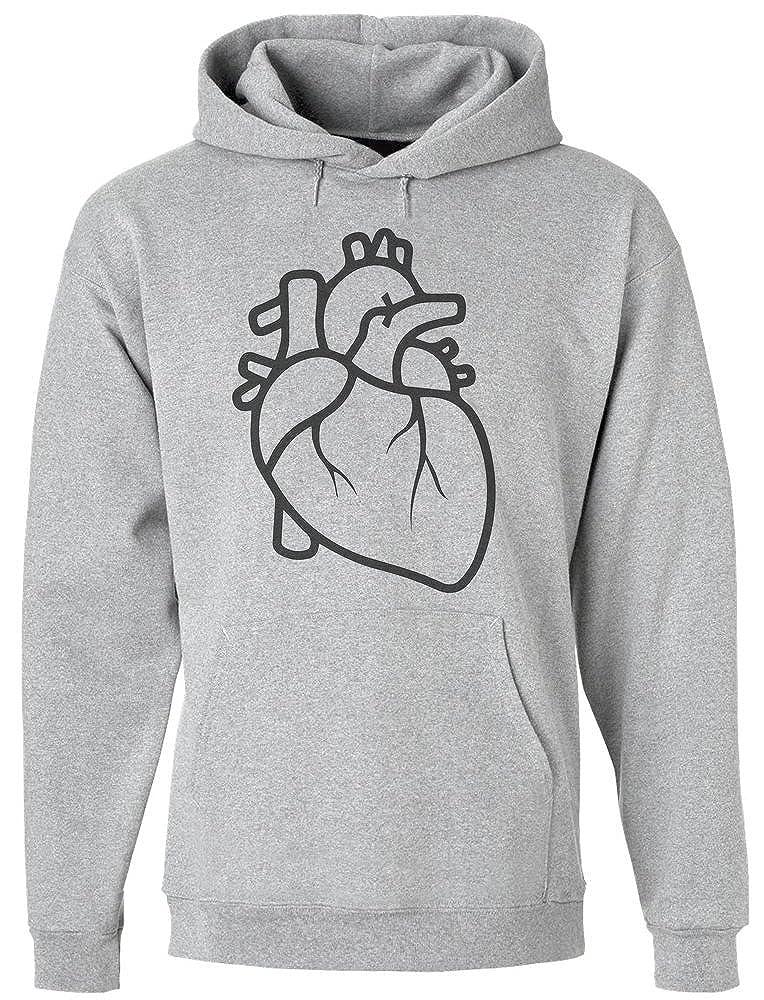 IDcommerce Elegant Minimalistic Heart Mens Hoodie Pullover