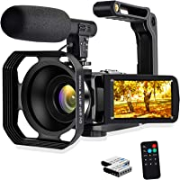 Camcorder Video Camera, 4K 48MP WiFi Digital Camera Recorder, 3.0 inch Touch Screen Vlogging Camera for YouTube Webcam…