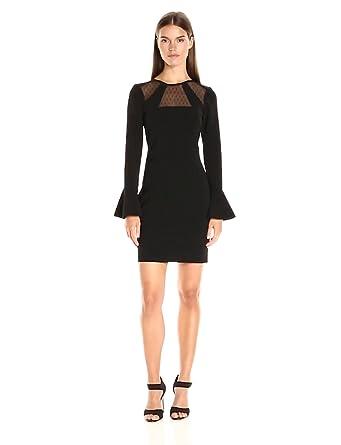 Parker Women's Terriana Combo Dress, Black, XS