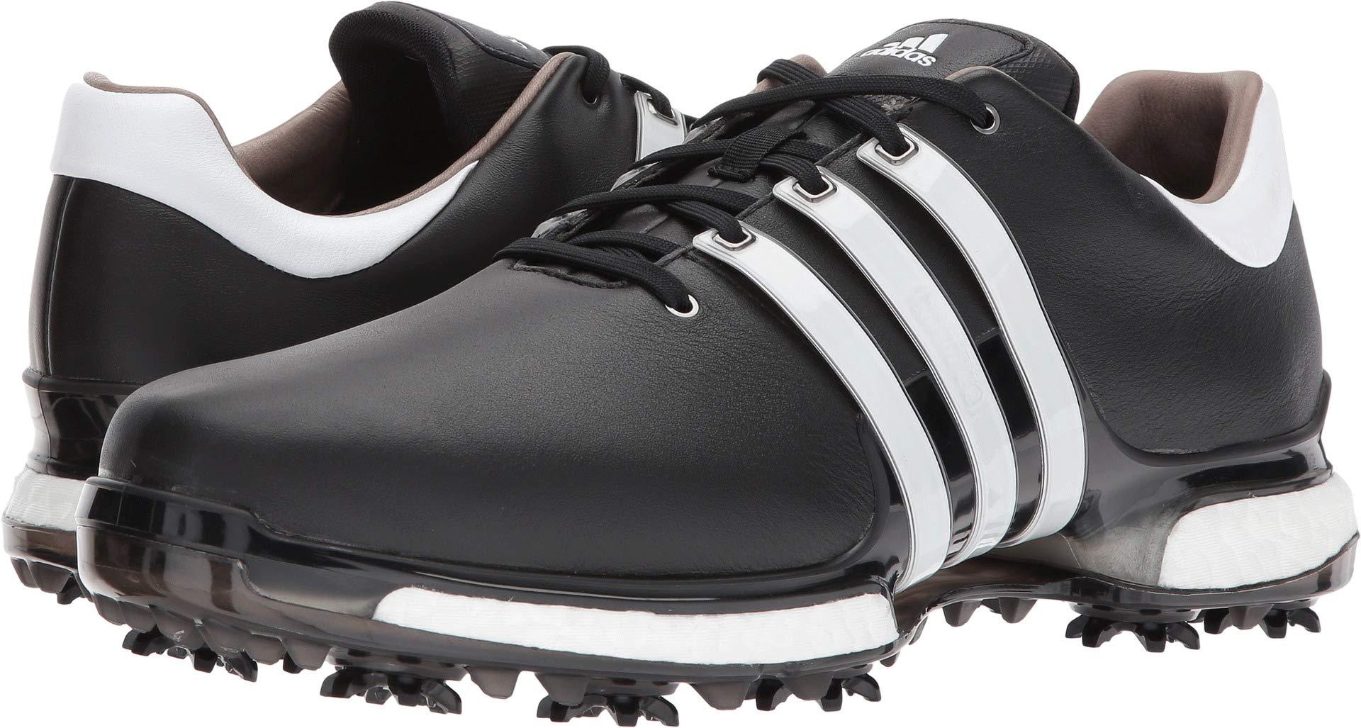 adidas Men's TOUR 360 2.0 Golf Shoe, Core Black/White, 7.5 M US