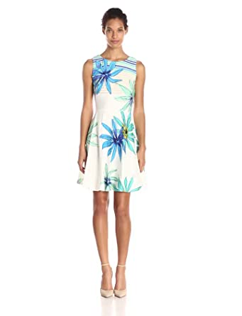 Julian Taylor Women S Sleeveless Floral Printed Fit And