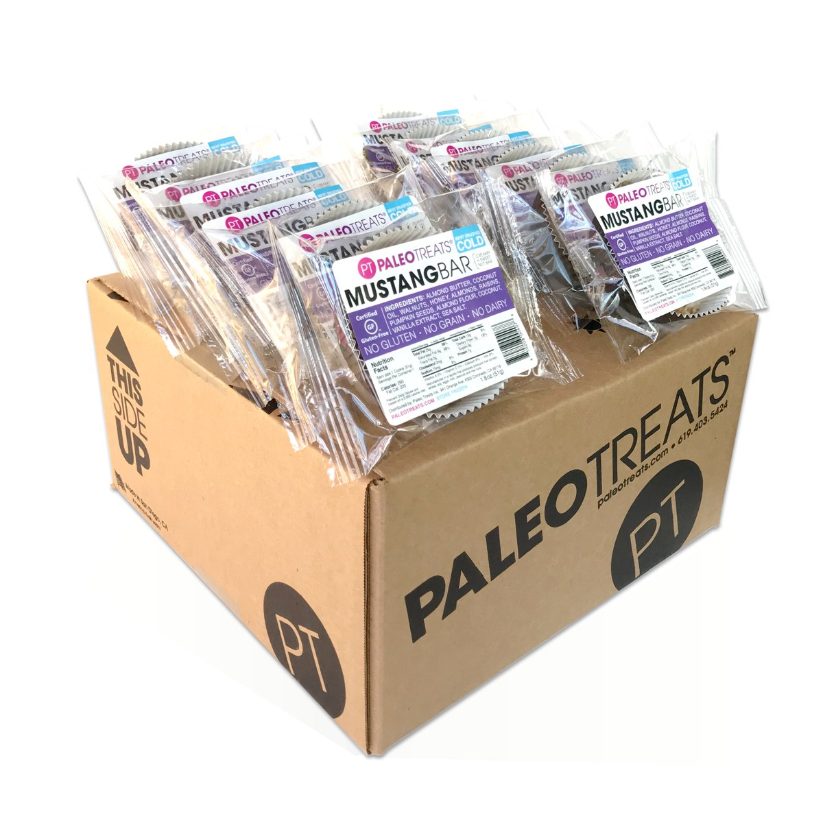 Paleo Treats Mustang Bar: Paleo cookie, Gluten-Free, Grain-Free, Dairy-Free, Soy-Free, Egg-Free, Keto, Real Food Dessert (Box of 12) by Paleo Treats (Image #1)