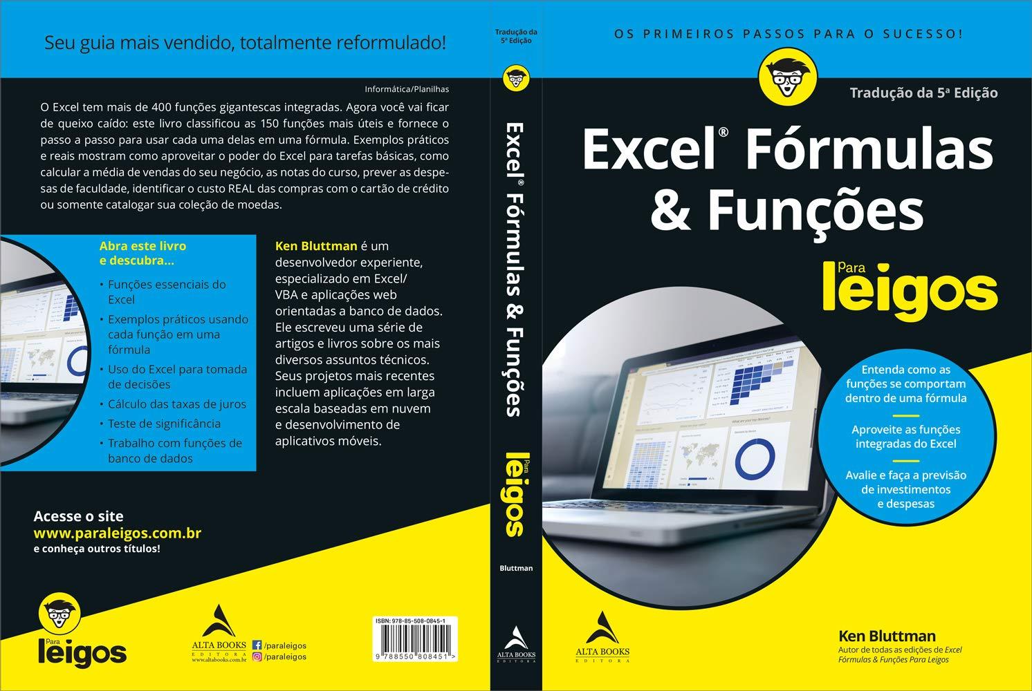 Excel Fórmulas e Funções Para Leigos Ken Bluttman 20 ...