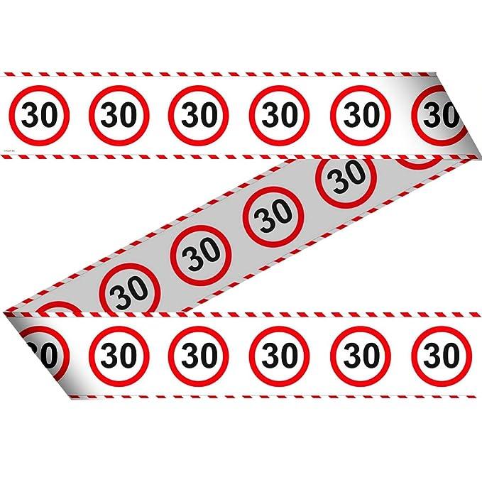 Partybox 30 Geburtstag 58-teilig Deko Verkehrsschild Partypaket