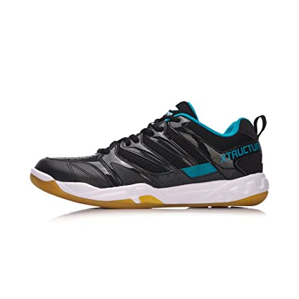 Amazon.com  LI-NING 2018 Men Badminton Shoes AYTN025-3 Black  Sports ... 1a29a9457