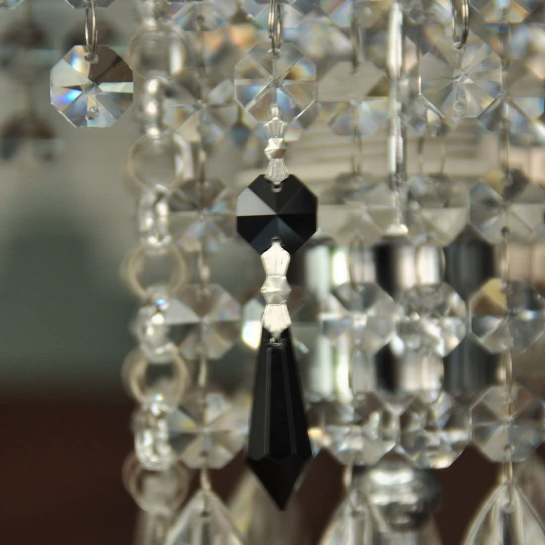 Bright 40mm Round Decor DIY Table Candle Crystal Beads Lighting Glass Lamp