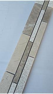Marmor Glasmosaik Bordüre 5x30 Braun Beige Stäbchen Mosaik Fliesen ... Bad Beige Fliesen Mit Bordure