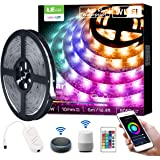 LE LED Strip Lights, WiFi Smart Waterproof Color Changing LED Strips, Works wiith Alexa Google Home, 16.4ft, SMD 5050…