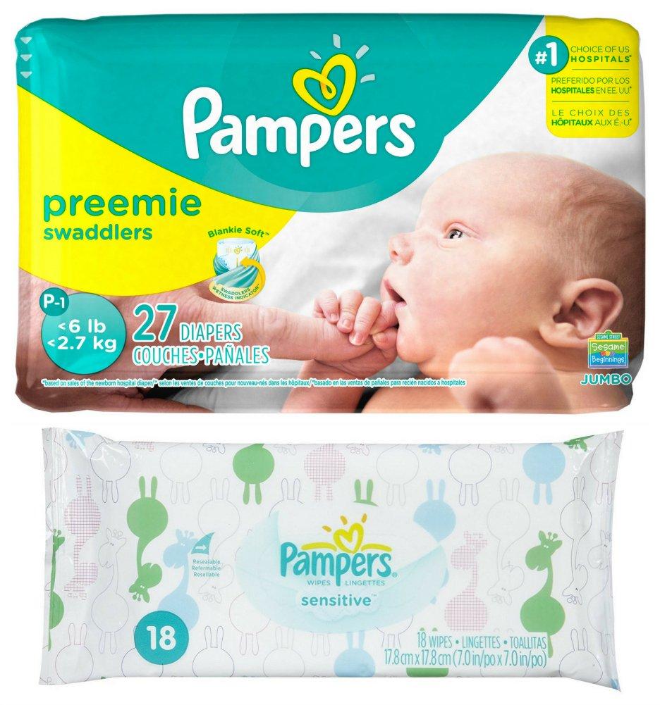 Pampers Swaddlers Preemie, 1 Pack, 27 count