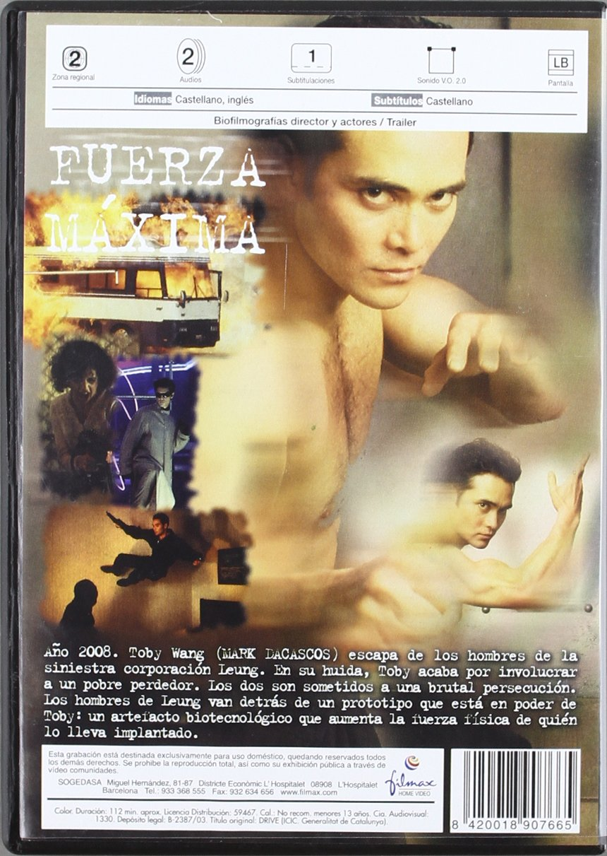 Amazon.com: Fuerza Maxima (Import Movie) (European Format - Zone 2) (2003) Mark Dacascos; Kadeem Hardison; John Pyper-F: Movies & TV