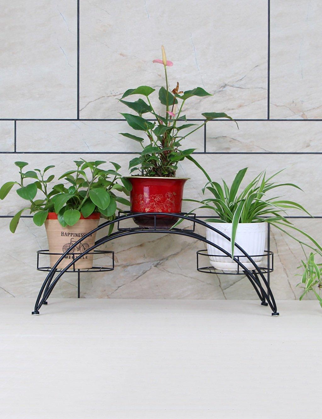 LB huajia ZHANWEI Europäische Stil Wohnzimmer Möbel Eisen Multilayer Blumenregal Blumentopf Rahmen Landung Balkon Blumenregal (Farbe : A, größe : 71 * 22 * 31cm)