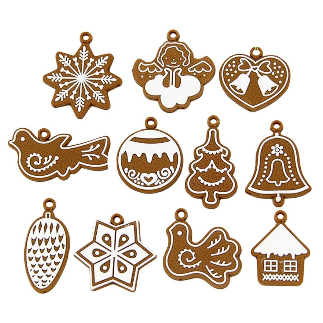 Arcilla del polímero Fimo Árbol de Navidad adornos Navidad fiesta casa decoración de Navidad Luwu-Store