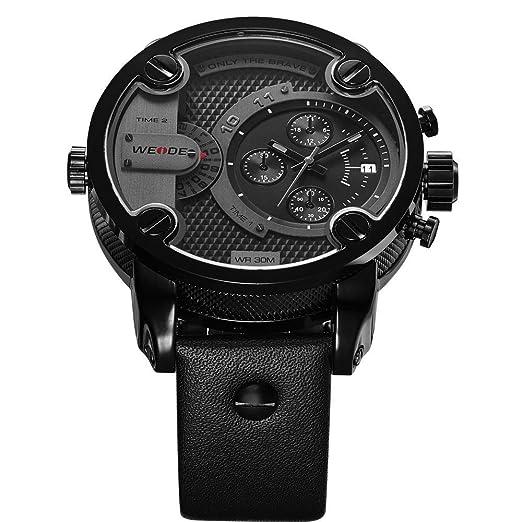 Amazon.com: Relojes de Hombre Cronógrafo De Cuarzo Reloj De Moda Para Caballero Caja de Acero Inoxidable 2018 Nueva Colección RE0083: Watches