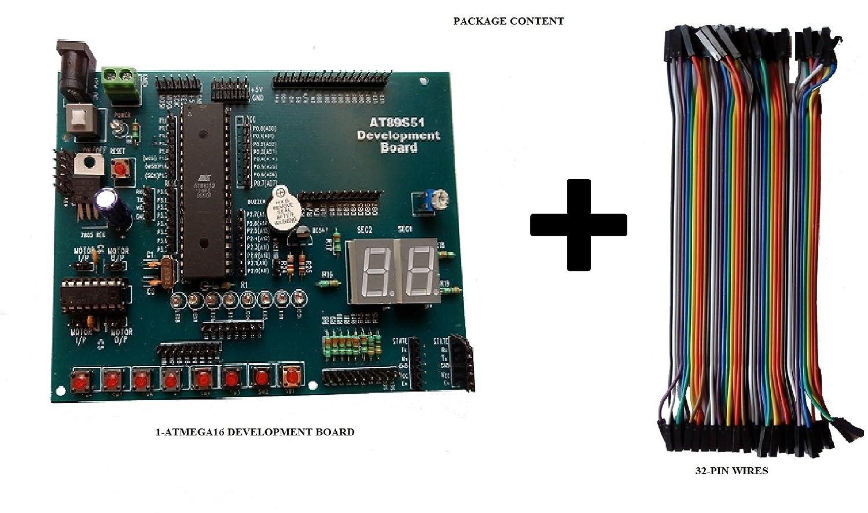Embeddinators 8051 Microcontroller Development Board With 32 Pin Reset Circuit Wires