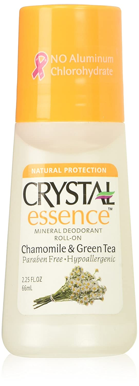 Crystal Deodorant Essence Roll On 2.25oz Chamomile/Green Tea (3 Pack) by Crystal Deodorant