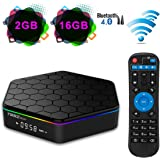 YAGALA T95Z Plus Android TV Box, Android 7.1 Amlogic S912 Octa Core 2GB DDR3 RAM 16GB EMMC ROM support 4K Dual Band WiFi 2.4GHz/5GHz Bluetooth 4.0