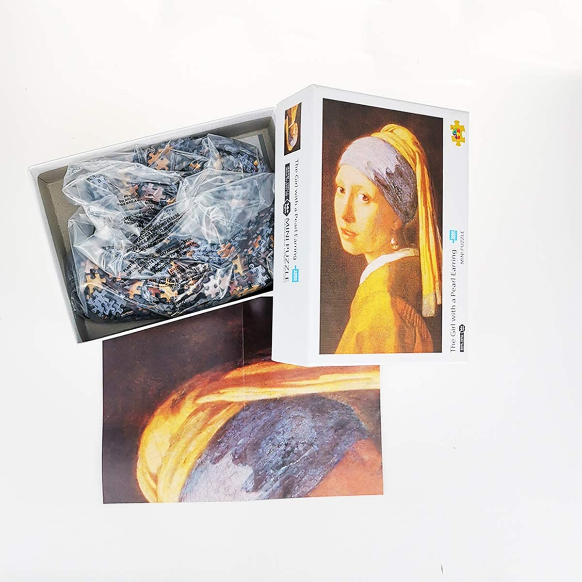 World Famous Painting 1000 Pieces Small Jigsaw Puzzle Mini Jigsaw Puzzle for Adults and Kids,Puzzle Size:16.5 X11.7 Inches Girl with a Pearl Earring 42 x 29.7cm