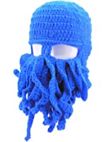 Oidon Octopus Winter Warm Knitted Wool Ski Face Mask Knit Beard Squid Beanie Hat Cap