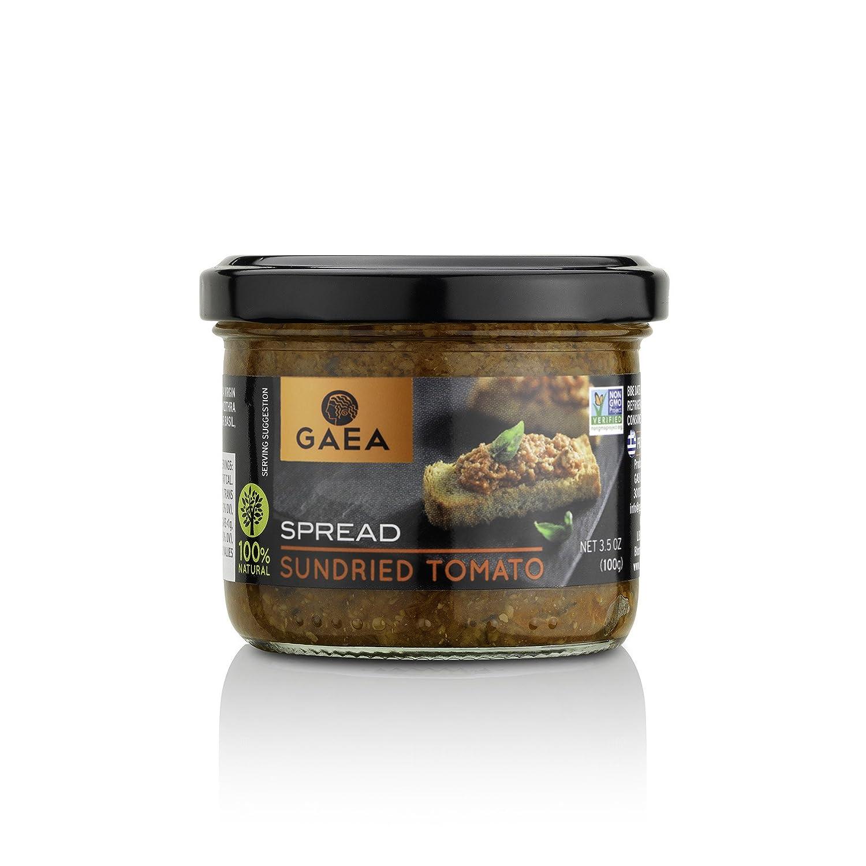 25% OFF Gaea Sundried Tomato Spread for Bruschetta - Non-GMO Certified and 100% Natural - Tapenade Great for Avocado Toast
