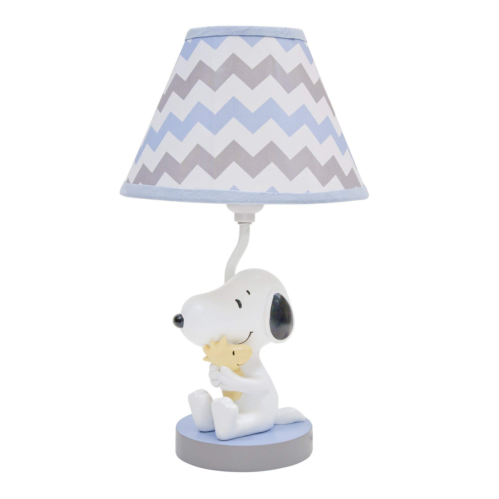 Lambs & Ivy My Little Snoopy Lamp with Shade & Bulb - Blue, Gray, White, Snoopy by Lambs & Ivy