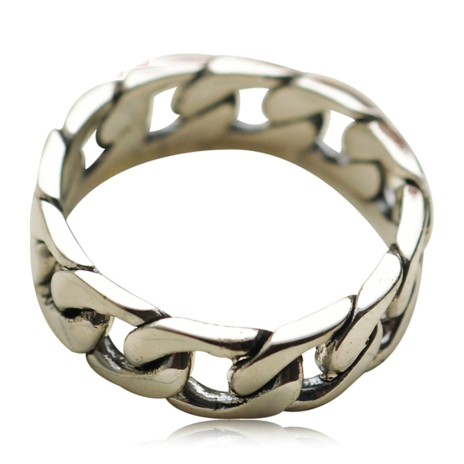 Bishilin Mens Ring Sterling Silver Weave Pattern Anniversary Partner Ring Silver Size 11