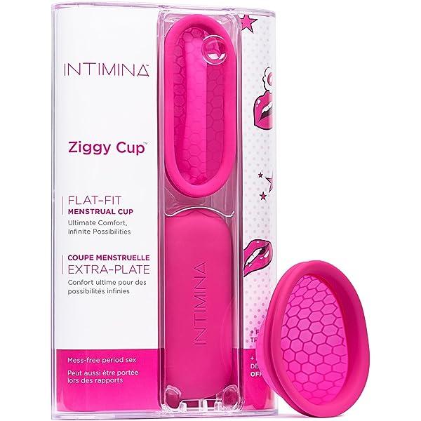 Intimina Ziggy Cup – Copa Menstrual Plana, Reutilizable Y Extra Fina, El Revolucionario Diseño (6140): Amazon.es: Salud y cuidado personal