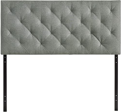Modway Theodore Tufted Diamond Pattern Linen Fabric Upholstered Queen Headboard