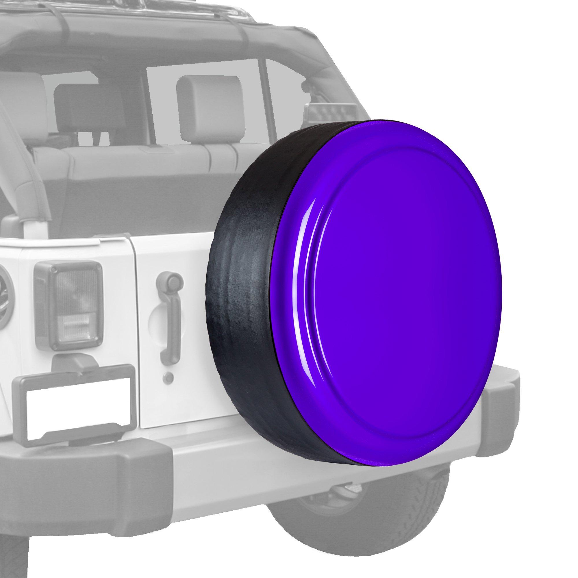 Boomerang Jeep Wrangler (JK) - 35'' Color Matched Rigid Tire Cover (Plastic Face & Vinyl Band) - Xtreme Purple