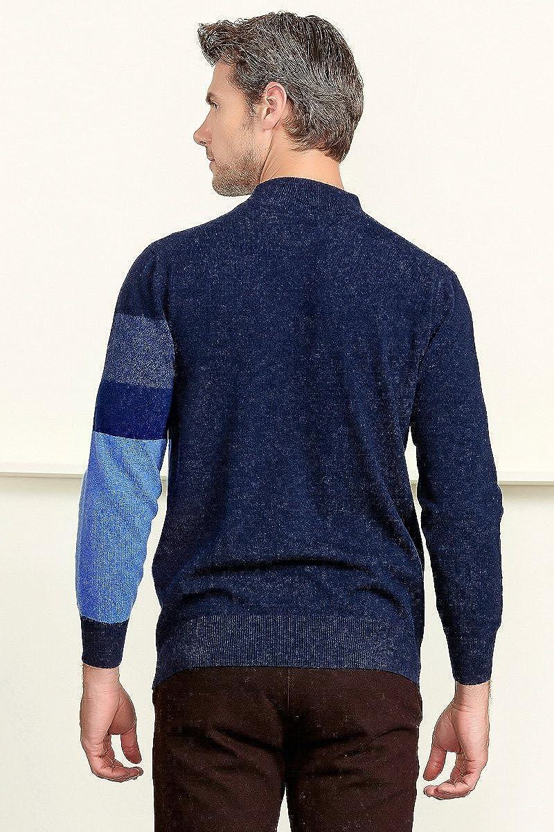 ZHILI Cashmere Mens Crew-Neck Sweater