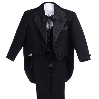 d6d3f3752 Amazon.com  Dressy Daisy Baby Boys  Classic Tuxedo with Tail 5pc Set ...