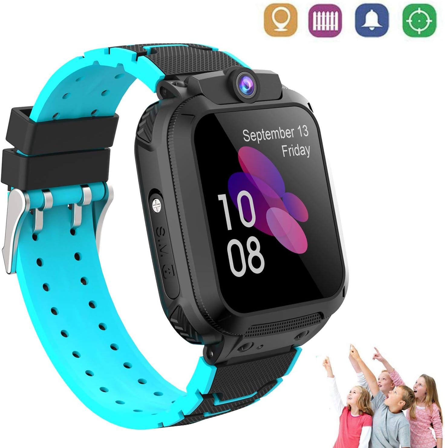 Winnes Reloj Inteligente Niños con Smartwatch Niños Llamadas Reloj Deportivo Niño Pulsera de Actividad Inteligente Niños (9B09308 Nergo)