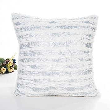 Amazon 40 Crystal Plush Simple Removable And Washable Delectable Washable Decorative Pillows