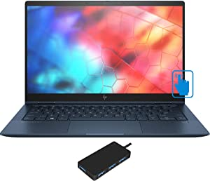 "HP Elite Dragonfly Home and Business Laptop-2-in-1 (Intel i5-8265U 4-Core, 16GB RAM, 1TB PCIe SSD, Intel UHD 620, 13.3"" Touch Full HD (1920x1080), WiFi, Bluetooth, Webcam, Win 10 Pro) with USB Hub"