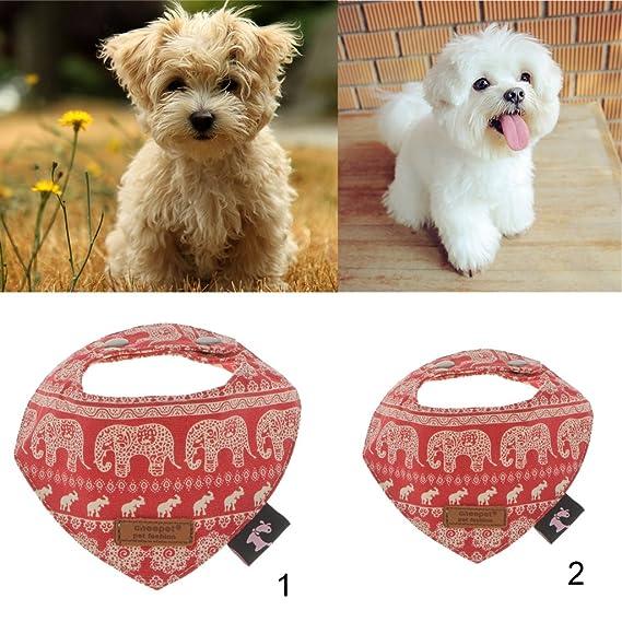 MagiDeal Mascotas Perro Gato Ajustable Babero Collar Pañuelo/Triangular Bandana de algodón, Color Rojo: Amazon.es: Productos para mascotas