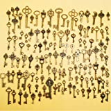0163 20 Set of Twenty Pewter Skeleton Key Charms