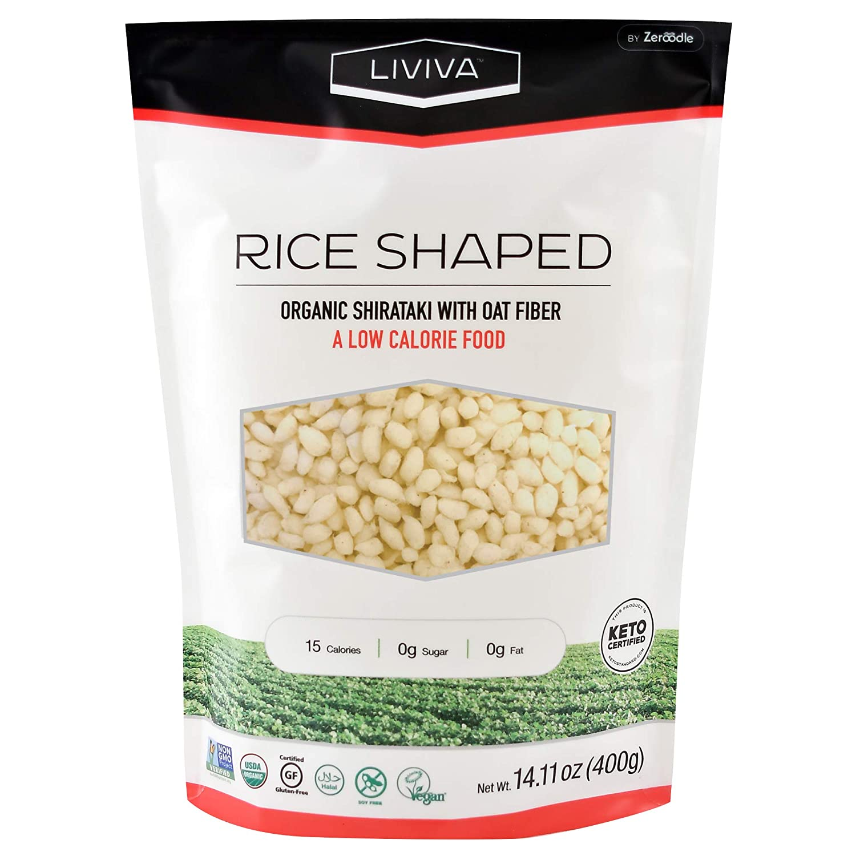LIVIVA Organic Rice Shaped Shirataki 14 oz (Pack of 6)