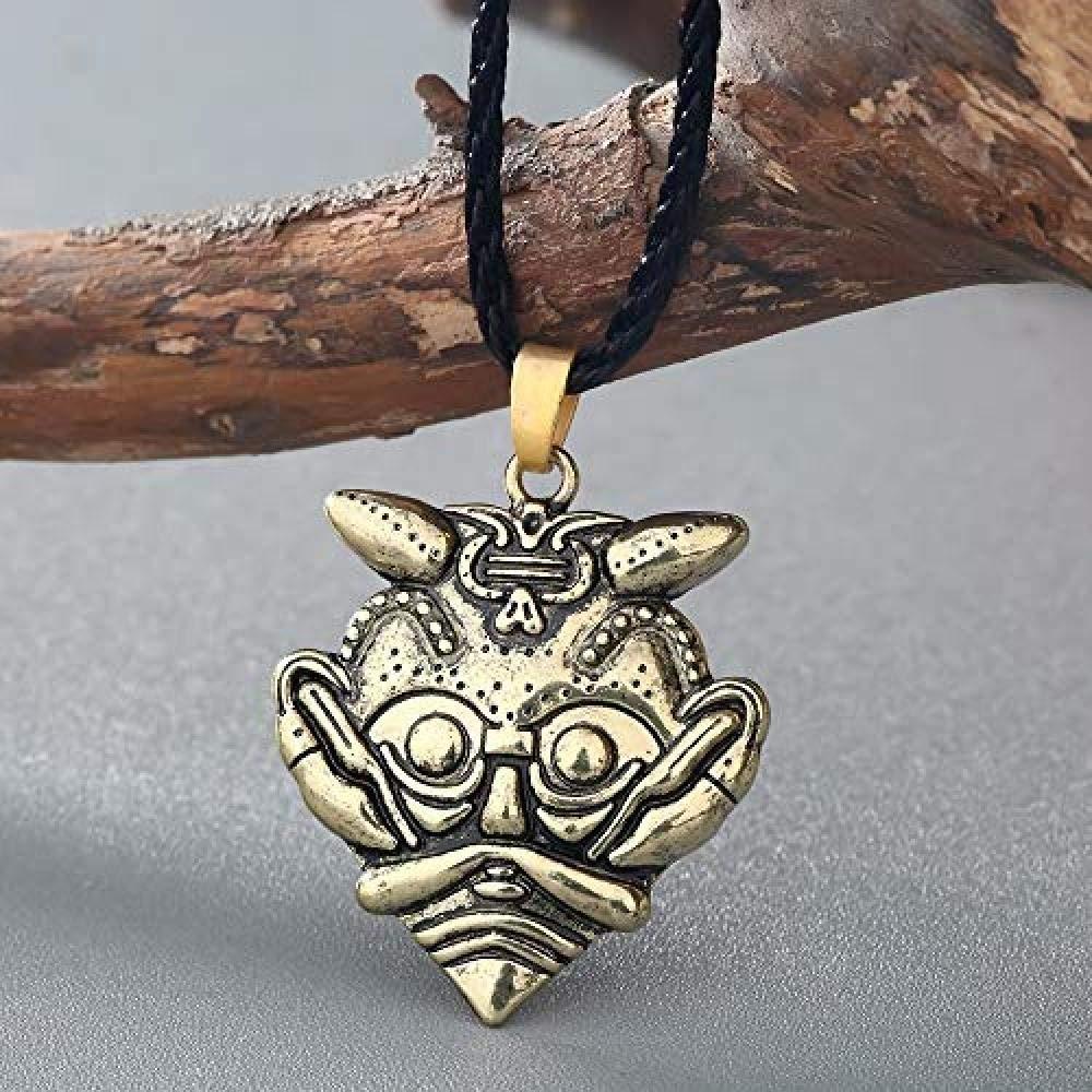 LSHYF La Máscara De Loki Collar Colgante Máscara De Odin Amuleto ...