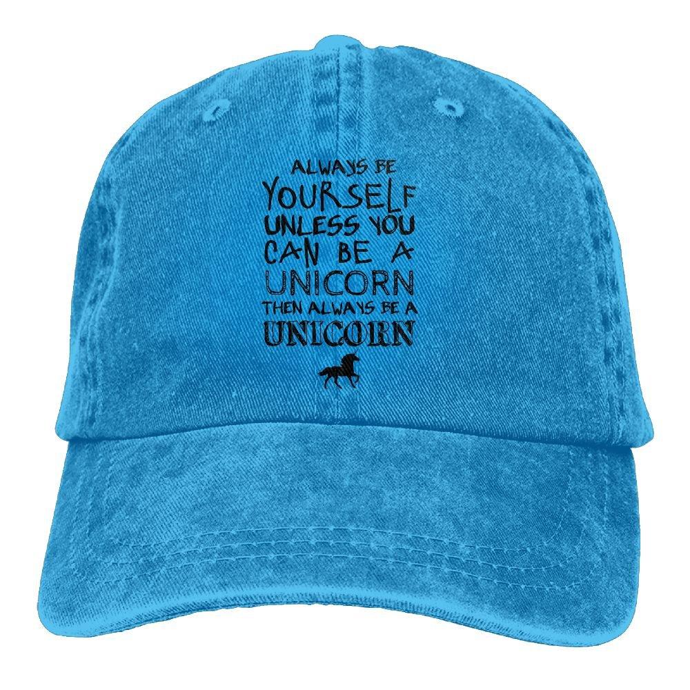 Always Be A Unicorn Trend Printing Cowboy Hat Fashion Baseball Cap for Men and Women Black
