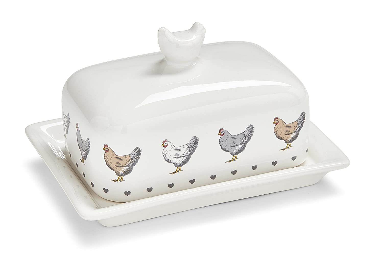 Cooksmart Farmers Kitchen Ceramic Butter Dish Citylook