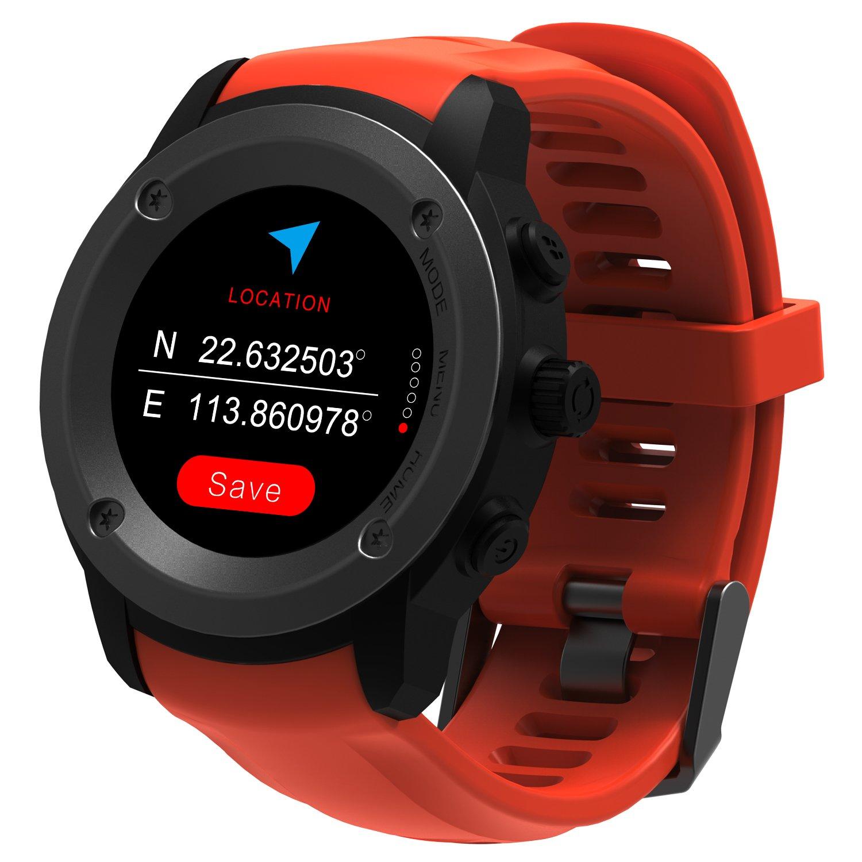 GPS Running Reloj GPS con monitor de frecuencia cardiaca en la muñeca, monitor de actividad y notificaciones inteligentes Reloj inteligente GPS para hombres Mujeres Modos Reloj de con GPS y Pulsometro de Muñeca, Unisex Adulto multideportes T