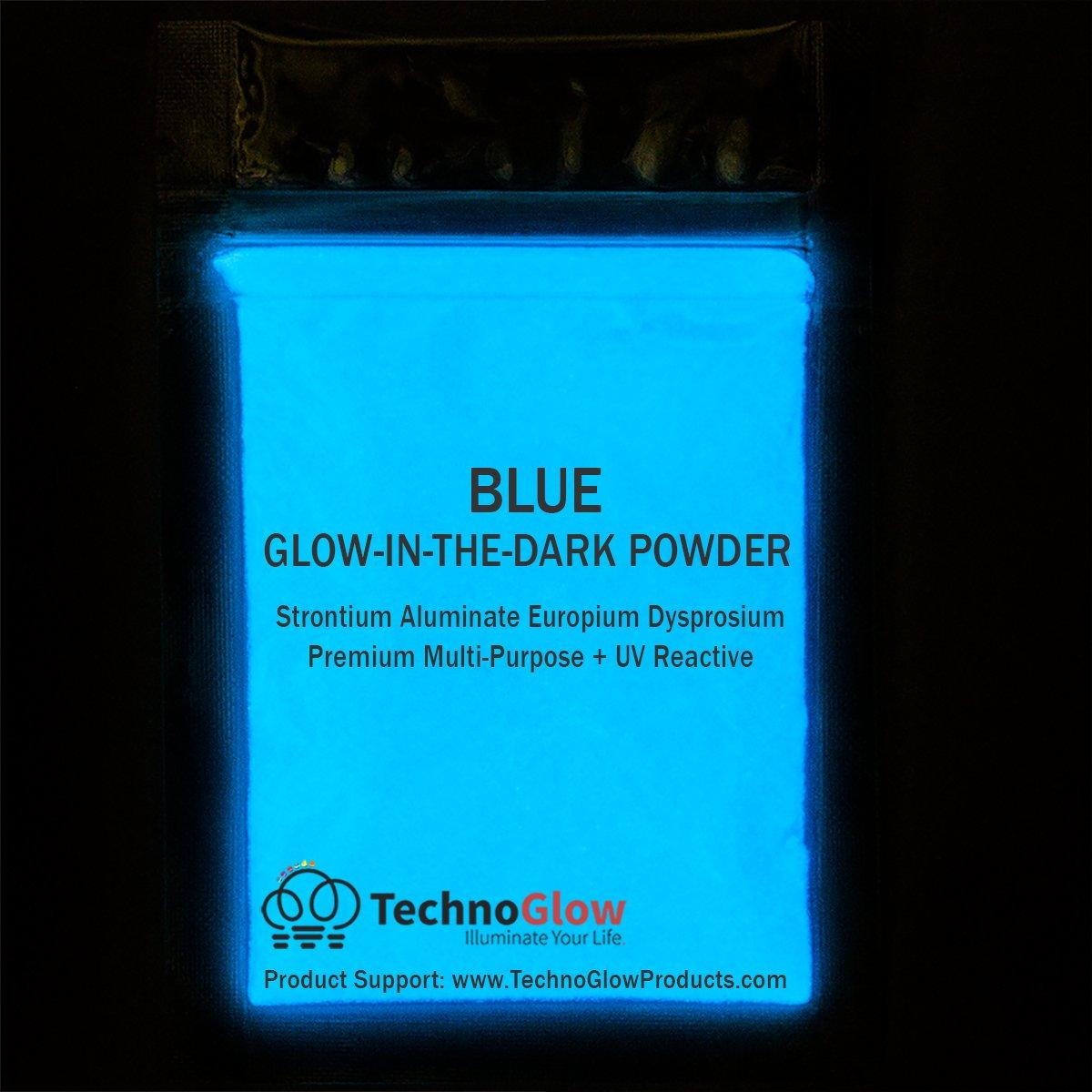 Blue Glow in the Dark & UV Reactive Pigment Powder - 500 Grams by Techno Glow Inc (Image #2)