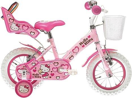 HELLO KITTY Bicicleta 12 Corazones Rosa: Amazon.es: Deportes y ...