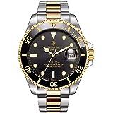 STONE メンズ 腕時計 スケルトン 自動巻き式 アナログ表示 ウォッチ ステンレス 多機能 機械式 時計