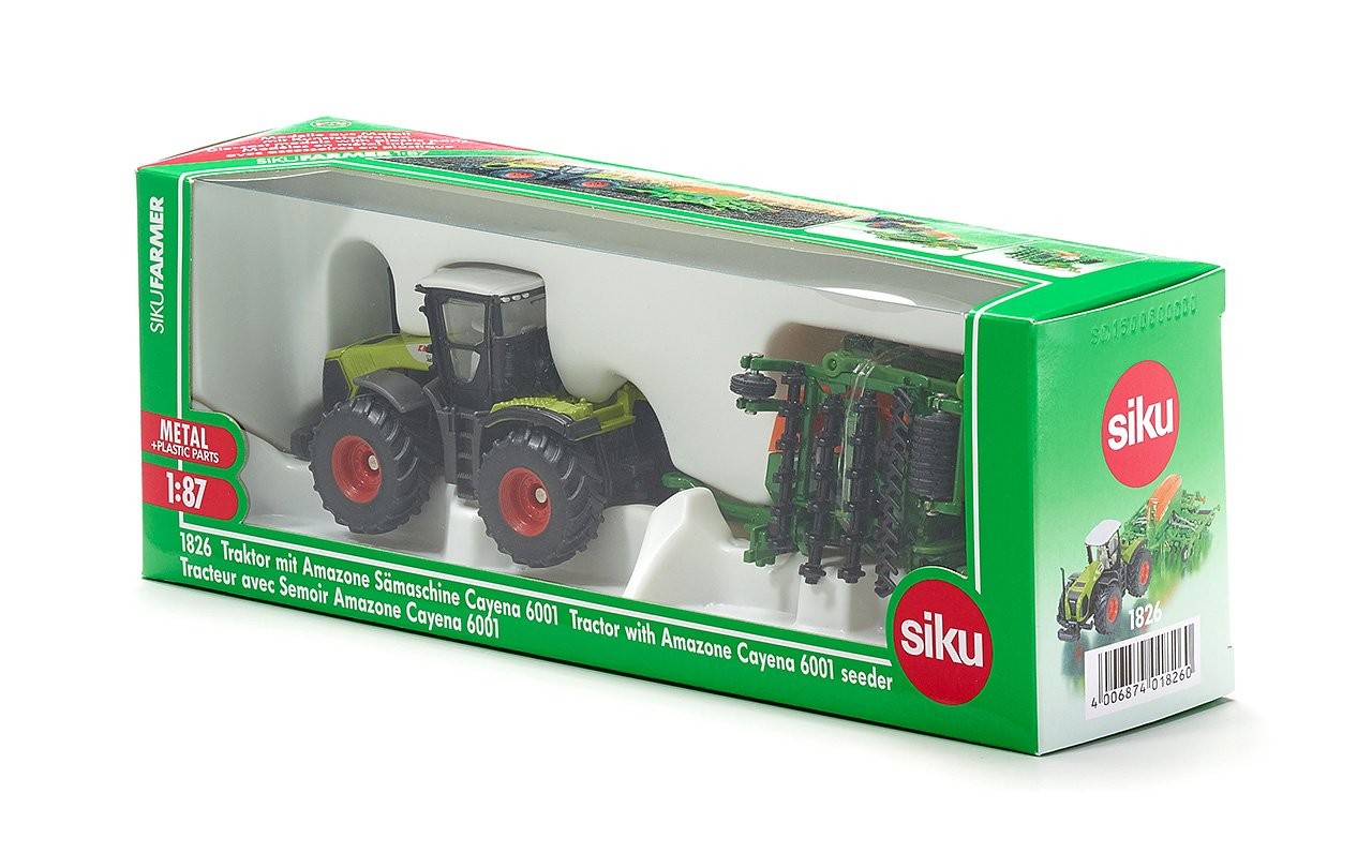 Class Xerion Traktor mit Sämaschine Amazone Cayenna Sieper GmbH SIKU 1826