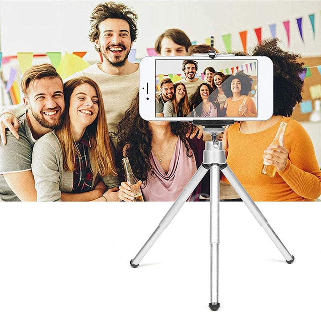 Eubell Phone Tripod Holder Extendable Stand Aluminum Alloy Self-Timer Mount with Android Phone Camera.