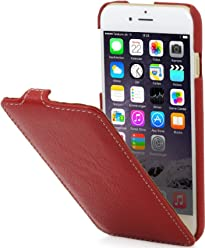 "StilGut UltraSlim Case, custodia per Apple iPhone 6s Plus (5.5""), in pelle, rosso"