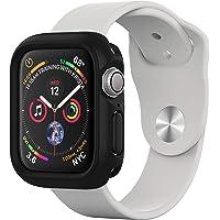 Rhino Shield Bumper Case für Apple Watch Series 4 [40 mm - Nicht 44 mm] [CrashGuard NX] | Stoßabsorbierende Dünn Designte Schutzhülle [1.2M Fallschutz] - Schwarz