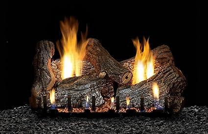 Amazon Com White Mountain Sassafras Vent Free 24 Gas Logs With On