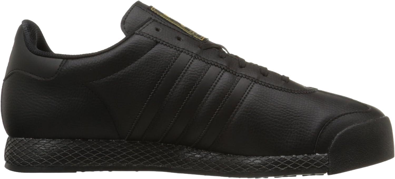 adidas Originals Herren Samoa Retro Sneaker, weiß/weiß Schwarz Schwarz Gold